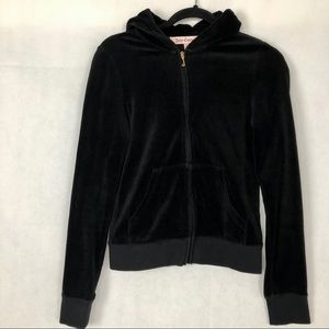 Juicy Couture Velvet Hooded Jacket, M
